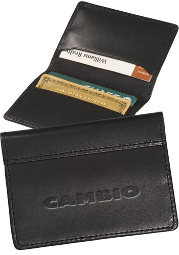 Personalized Fire Island Cowhide Business Card Cases