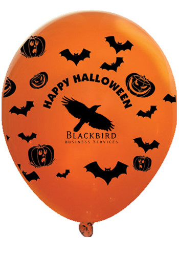 Promotional Happy Halloween Wrap Latex Balloons