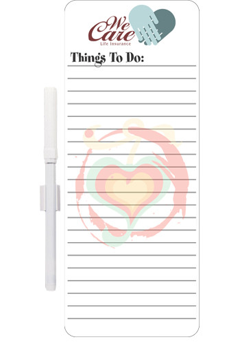 Promotional Memo Board Things to Do List w/ Mag 10in x 4in Magnets