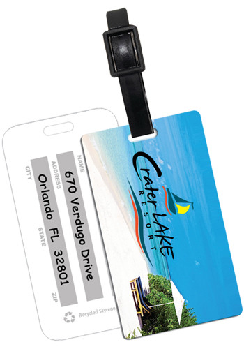 Promotional Recycled Beach Scene Luggage Tags
