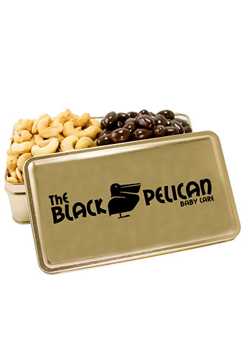 Promotional Salted Cashews Dark Chocolate Almonds 2-Share Tins