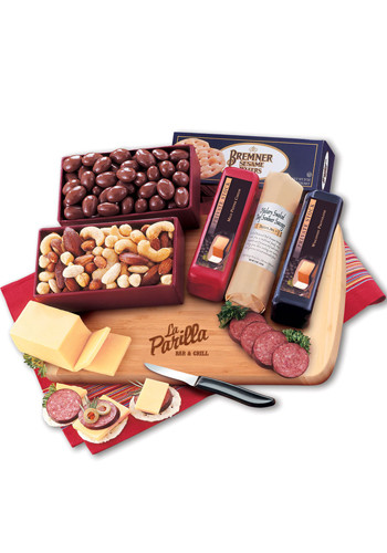 Custom Shelf-Stable Starter with Bamboo Cutting Board Cheese Packages