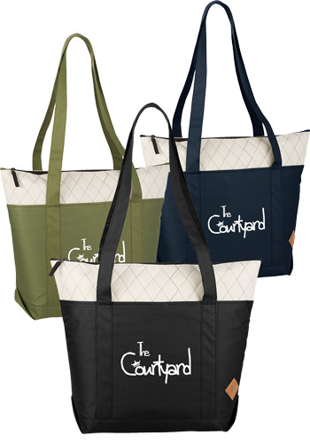 Quilted Zippered Boat Totes
