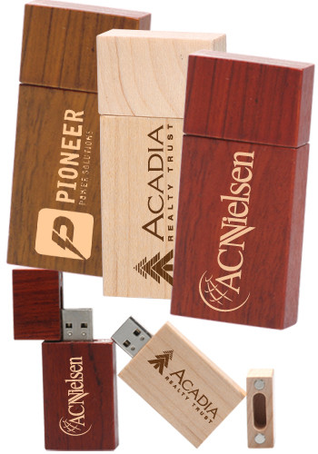 Rectangle Wood USB Flash Drives