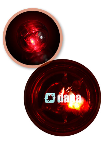 Red Flash Ball with Red LED Glow Lights | WCLIT330