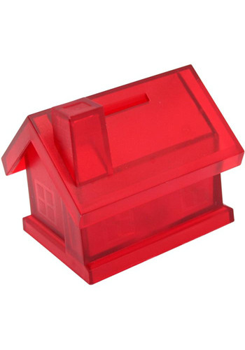 Plastic House Shaped Coin Banks | AL25001