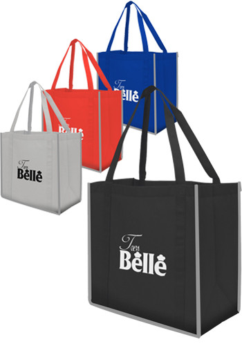 Reflective Large Grocery Tote Bags | X20207