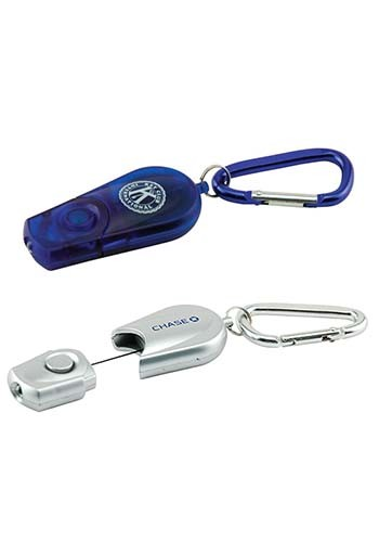 Retractable Carabiner Flashlight Keychains | IL353