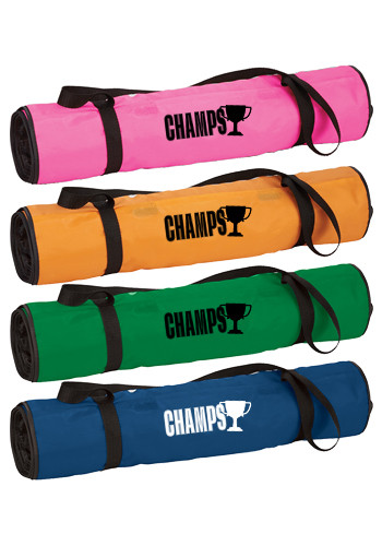 Customized Roll-up Polyester Beach Blankets with Pillows