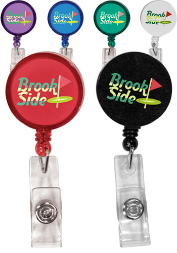 Custom Round Badge Holders with Alligator Clips