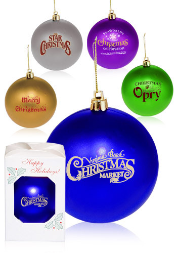Round Plastic Holiday Ornaments | OR2