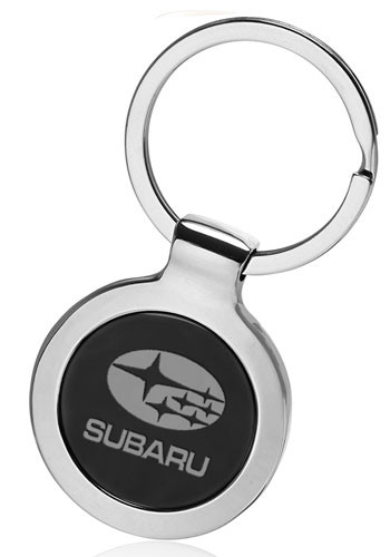 Personalized Round Two Tone Keychains
