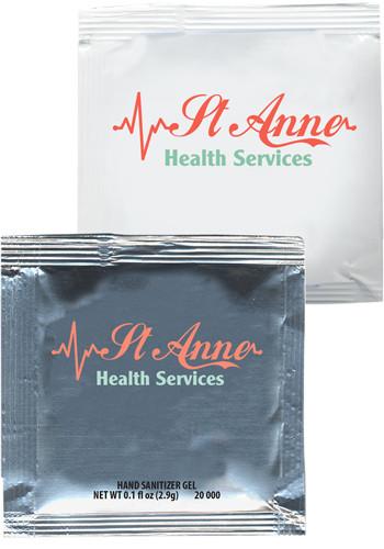 Custom Sanitizer Gel Packets