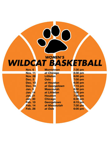 Customized Schedule Basketball Magnets
