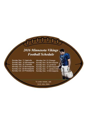 Customized Schedule Football 6.38in x 4.25in Magnets
