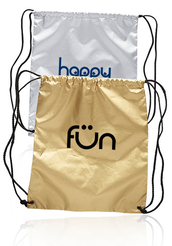 Customized Shiny Classic Drawstring Backpacks