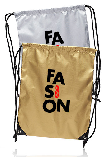 Custom Urban Shiny Drawstring Bags