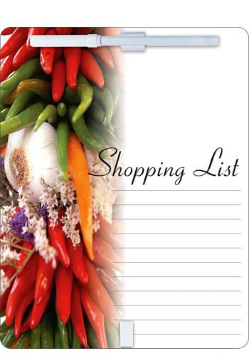 """Custom Shopping List Dry Erase Board w Magnet (8 1/2"""" x 11"""")"""