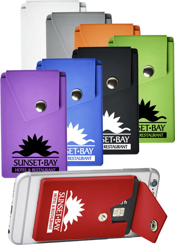 Promotional Silicone Phone Pocket Wallets With Stand