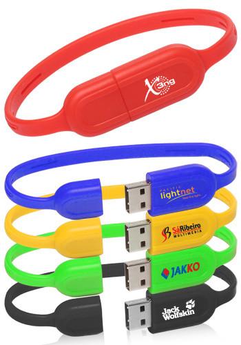 Customized 8GB Slim USB Wristbands