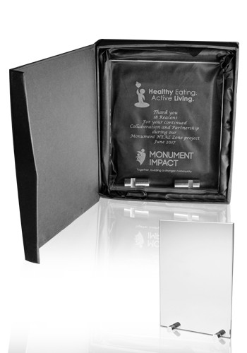Wholesale Small Chroma Glass Awards with Double Stand