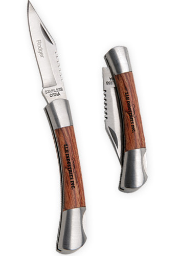 Customized Silver Small Rosewood Pocket Knives