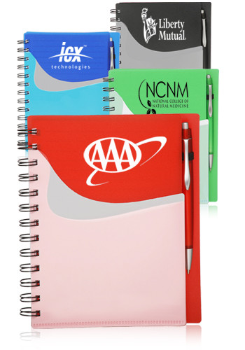 Personalized Spiral Notebooks with Front Pocket