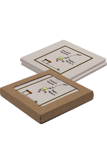 Personalized Square Absorbent Stone Duo Coasters