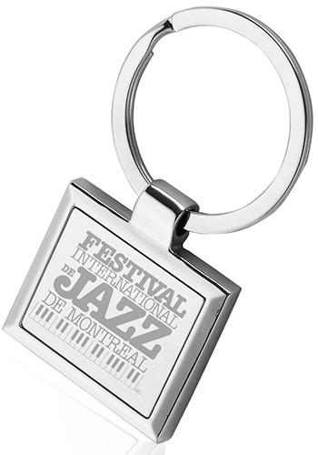 Square Frame Metal Keychains