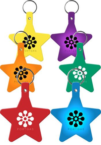 Star Flexible Key Tags   EM565