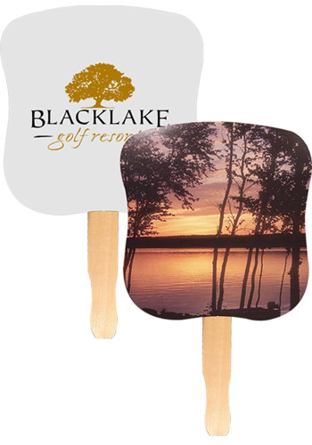 Customized Stock Hand Fans - Sunset