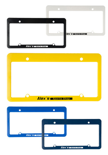 Bulk Straight Top License Plate Frames