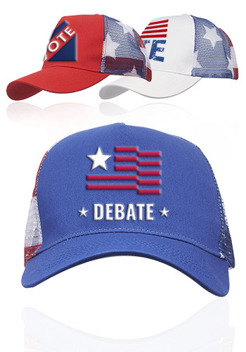 Custom Structured Patriotic Ball Caps