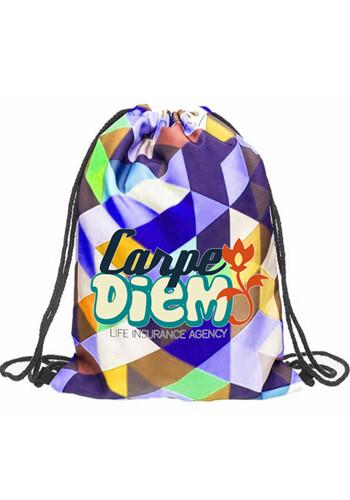 Custom Sublimated Drawstring Backpack Cinch Sports Bag