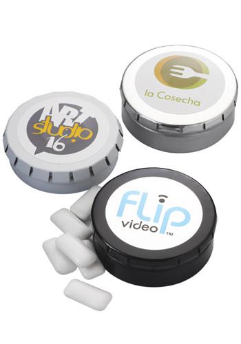Custom Sugar-Free Mints in Large Push Tin