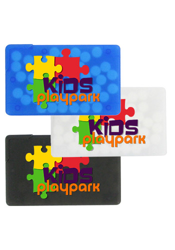 Custom Sugar-Free Mints in Plastic Credit Card Dispenser
