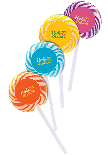 Swirl Lollipops with Round Label | ADMSWIRLPOP1