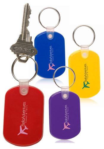 Tag Soft Plastic Keychains