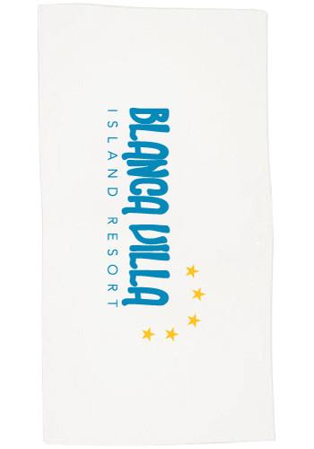 Terry Velour Hemmed Beach Towels  | TCBG900