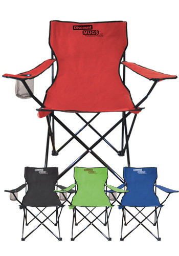 Promotional Large Folding Chairs with Drink Holder