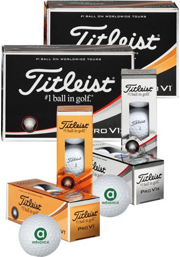 Bulk Titleist Pro V1 and Pro V1x Standard Half Dozen Golf Balls