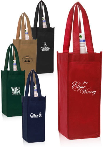 Personalized Non-Woven Vineyard One Bottle Wine Bags