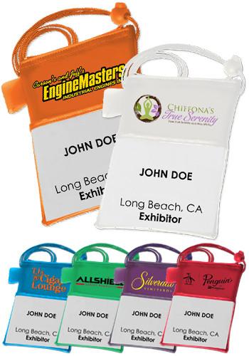 Plastic Trade Show Badgeholders