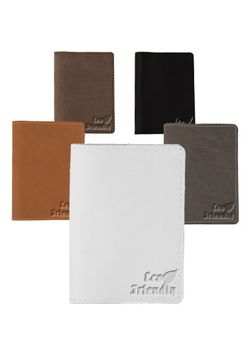 Promotional Traverse Leather Currier Passport Covers