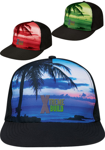 Tropical Flat Bill Caps