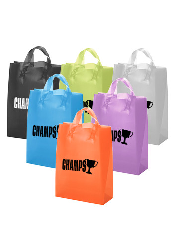 Tulip Frosted Brite Plastic Shopping Bags | BM37S1013