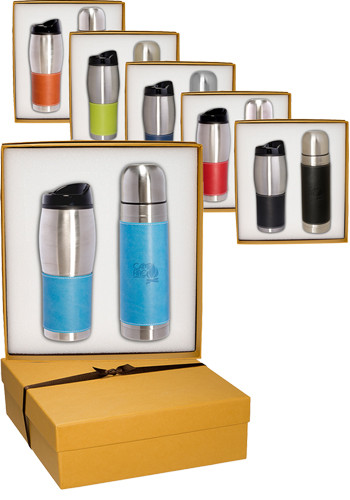 Wholesale Tuscany™ Stainless Steel Thermos & Tumbler Gift Set