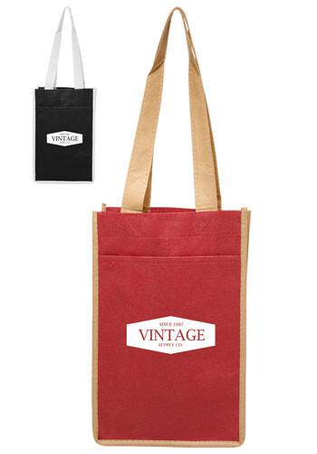 Custom Two Bottle Non-Woven Wine Bags