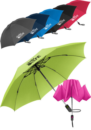 Customized Unbelievabrella Automatic Reverse Compact Umbrella