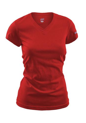 Soffe  Custom V-neck Tissue Tee Shirts